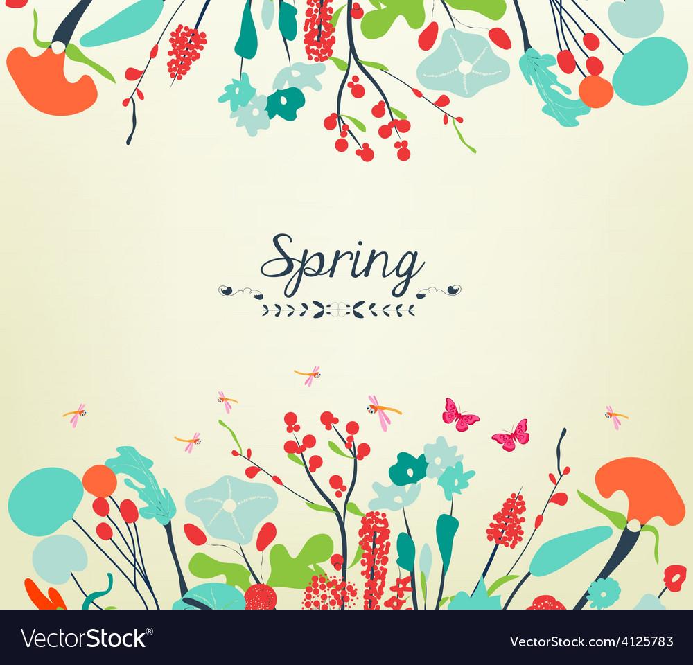 Blossom into spring vintage vector