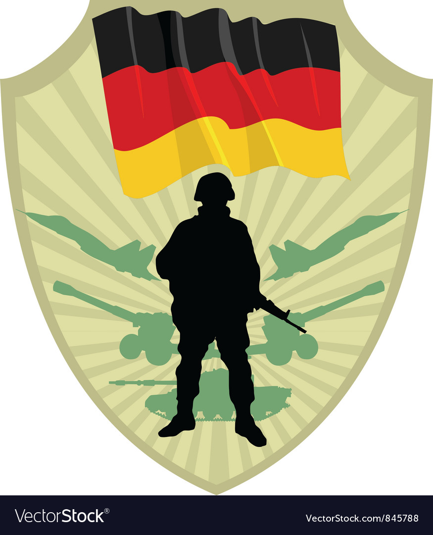 Army of germany vector