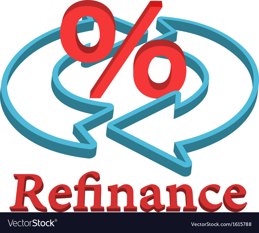 Refinance home mortgage loan vector