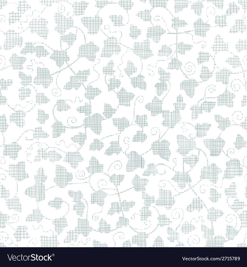 Sylver ivy textile texture seamless pattern vector