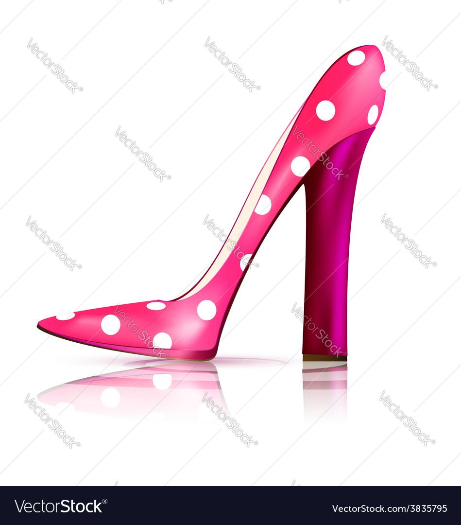 Pink funny shoe vector