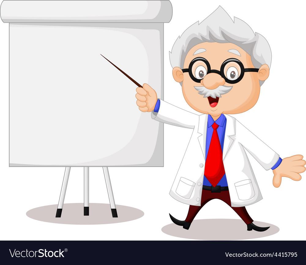 Professor teaching vector