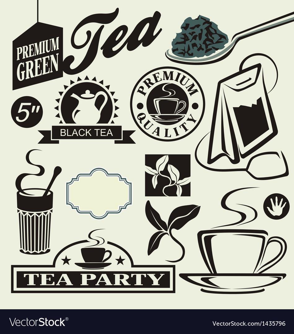 Set for tea vector
