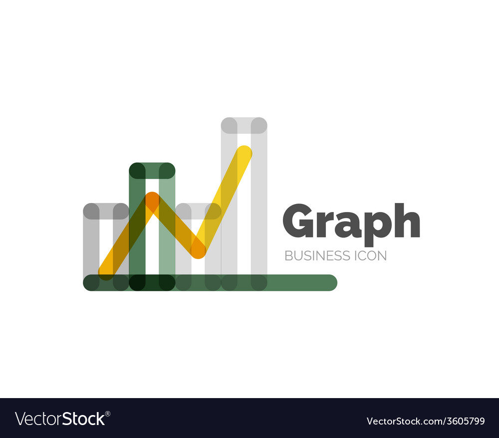 Line minimal design logo graph vector