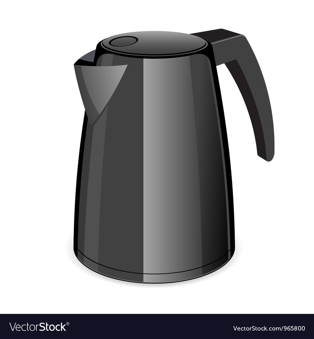 An isolated black electric tea kettle vector