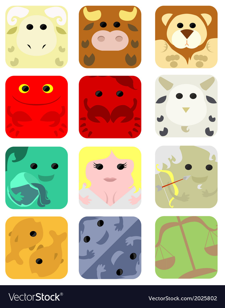Set of astrology icons vector