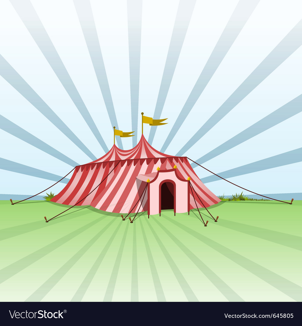 Circus entertainment tent vector