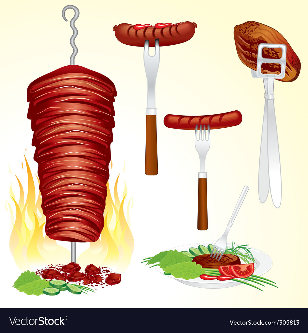 Bbq meat vector