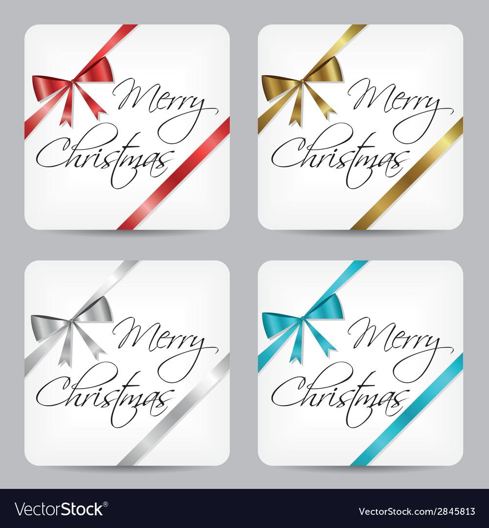 Merry christmas cards vector