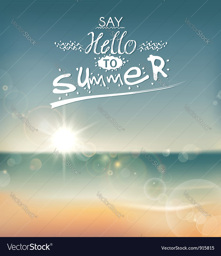 Say hello to summer vector