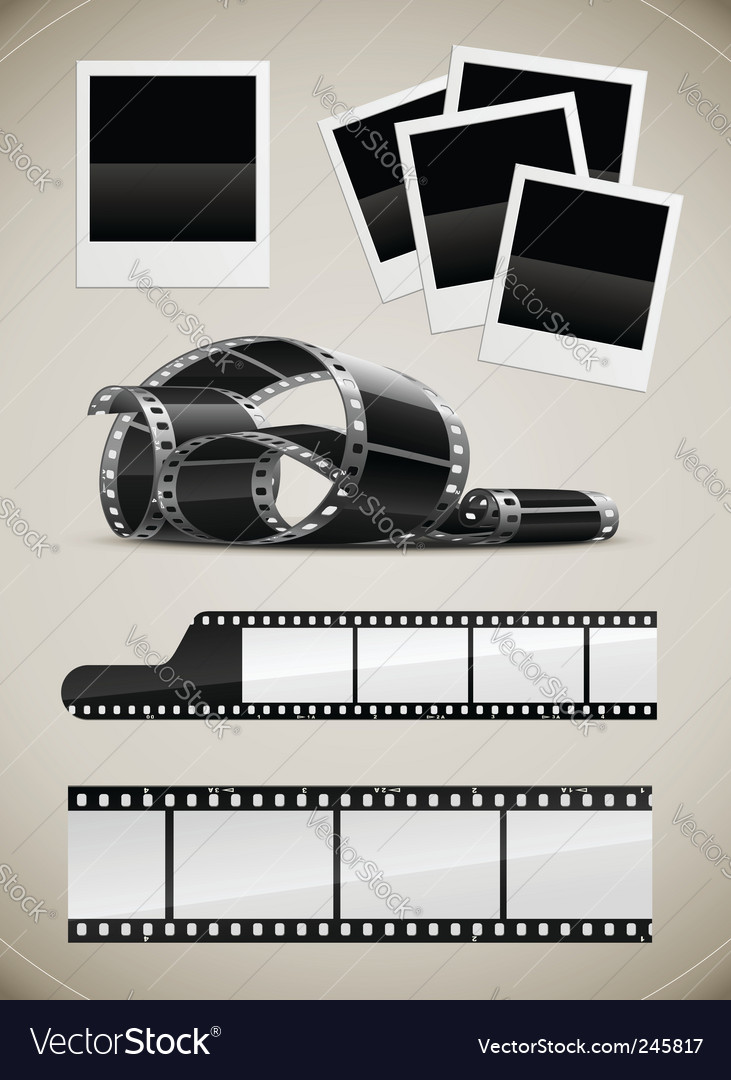 Polaroid pictures vector