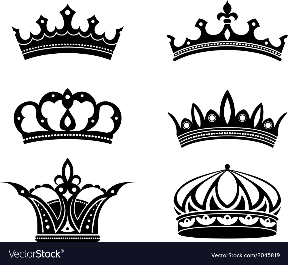 Royal crowns and diadems vector