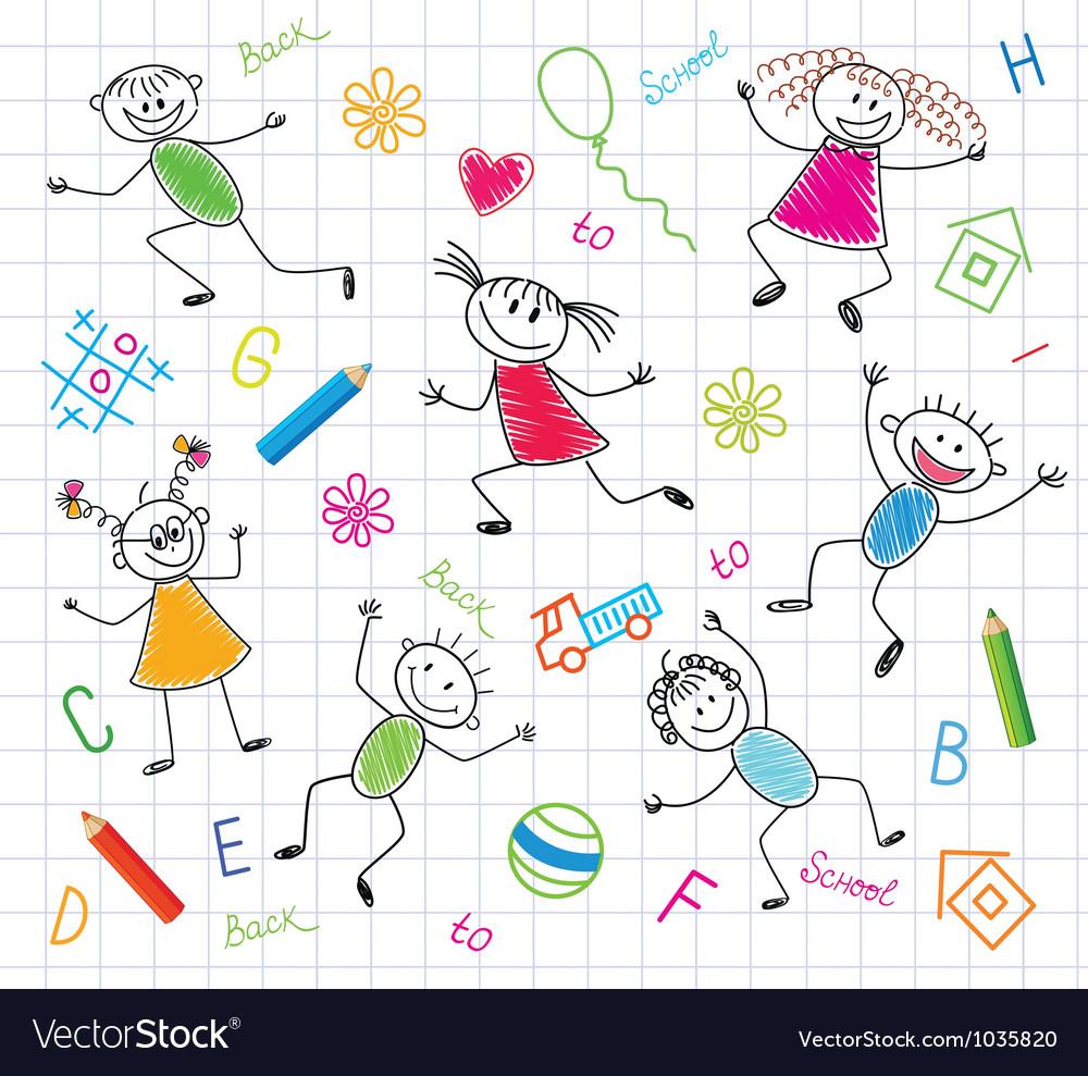 Funny children vector