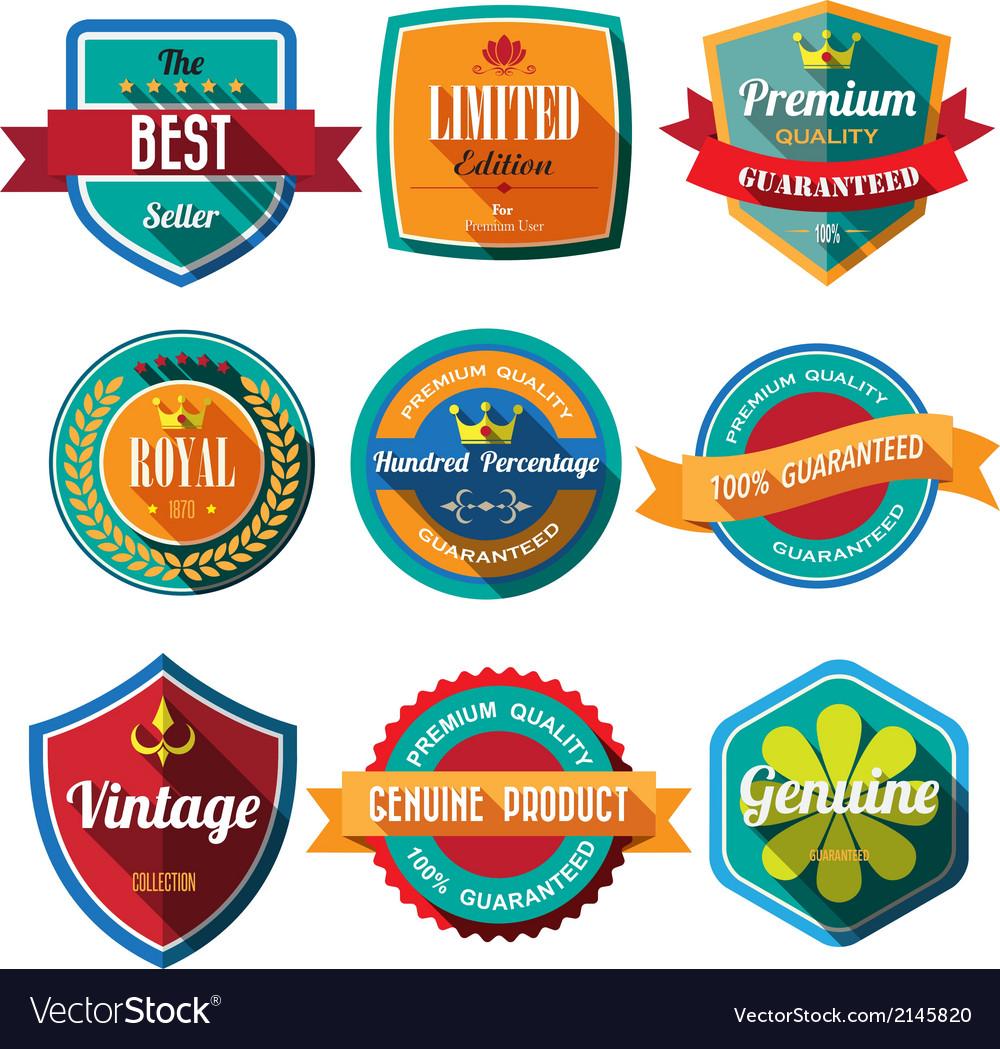 Set-of-retro-vintage-badges-and-labels-flat-design-vector