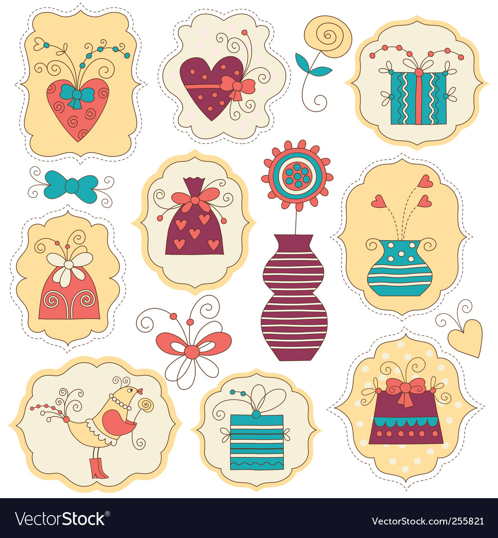 Cute holiday element vector