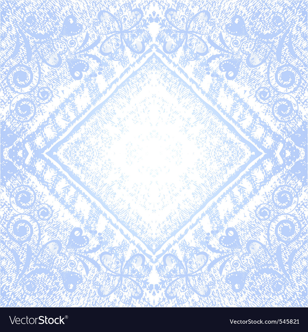 Denim floral background vector