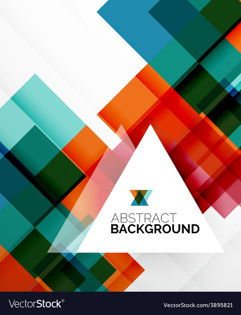Square shape abstract layouts business template vector