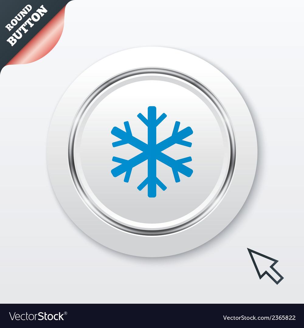 Snowflake sign icon air conditioning symbol vector