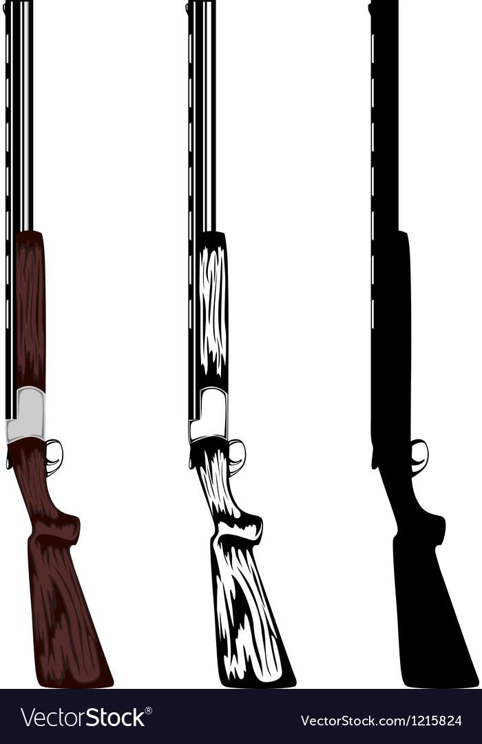 Huntings rifle vector