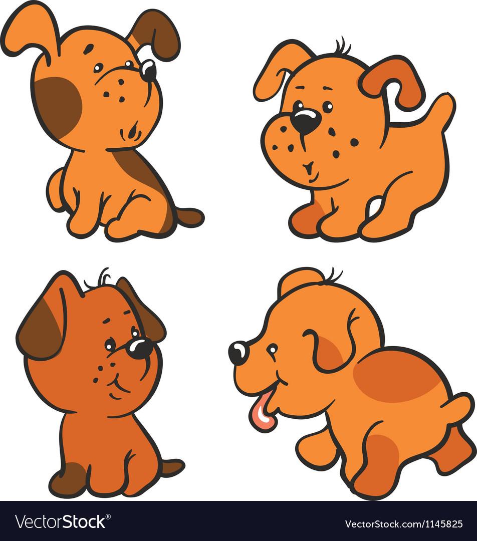 Puppies vector