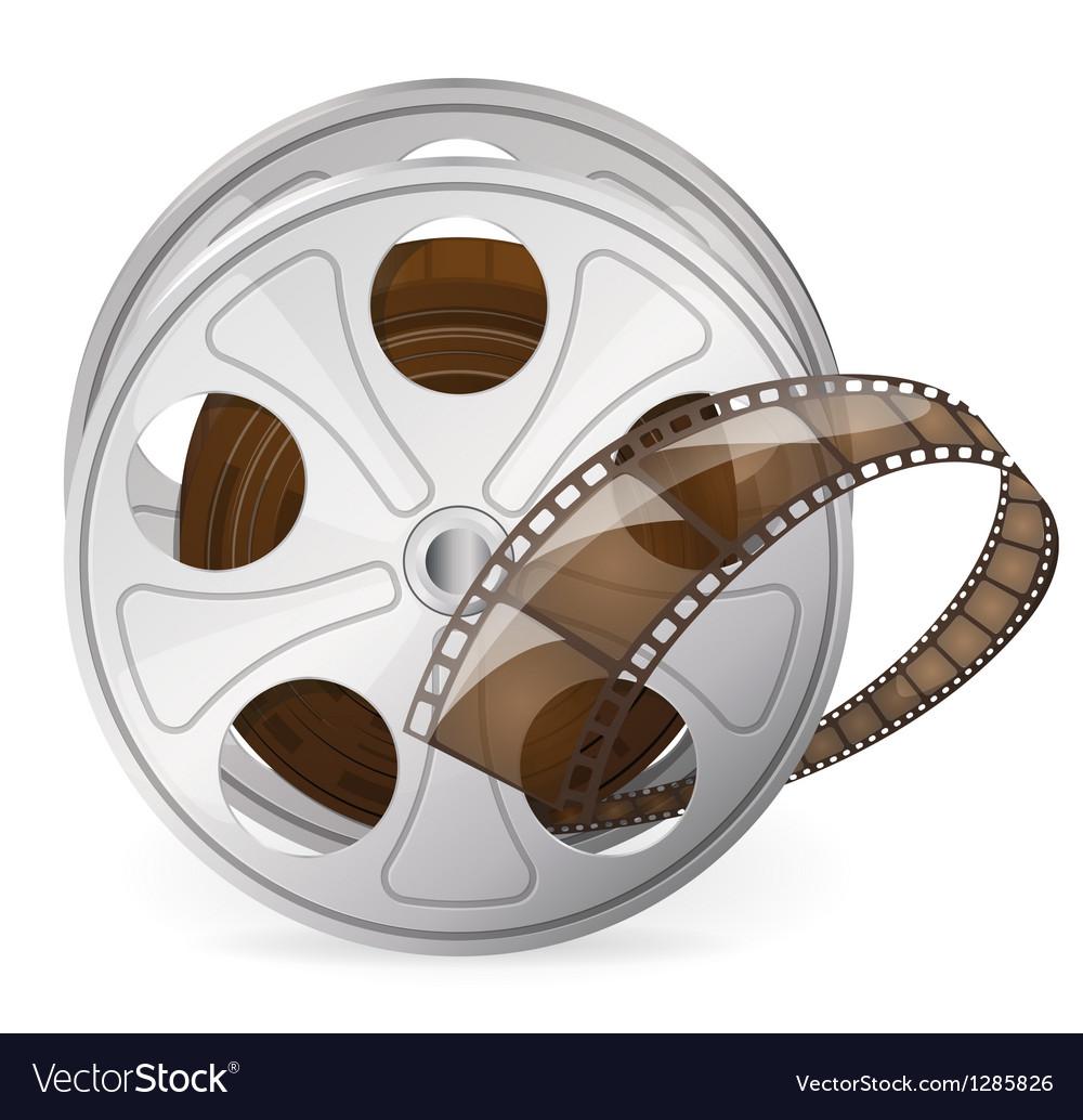 Reel of movie tape vector