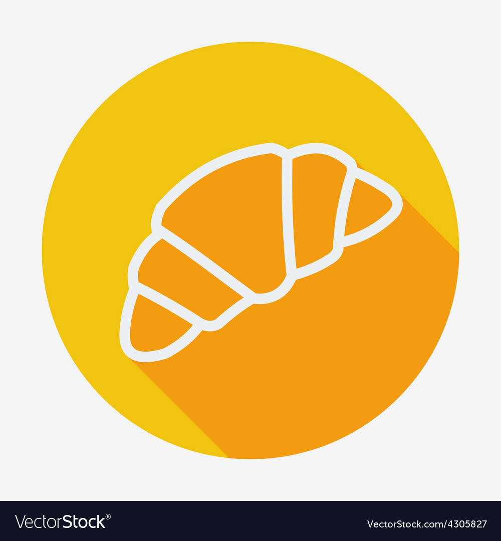 Single croissant icon with vector