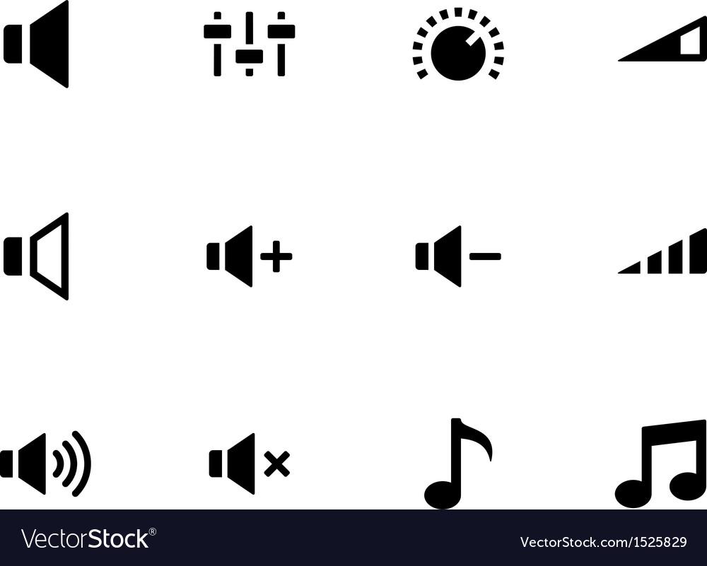 Speaker icons on white background volume control vector