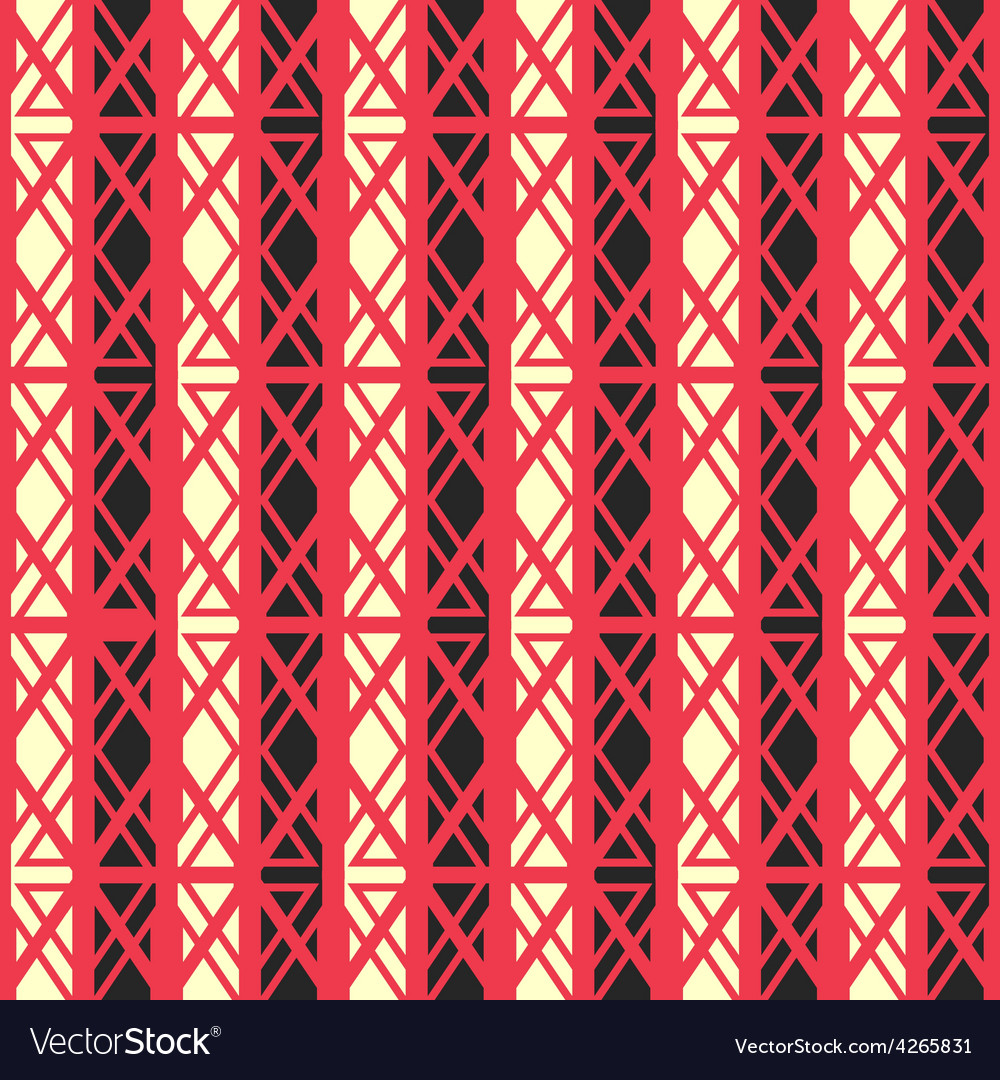 Red ancient seamless pattern vector