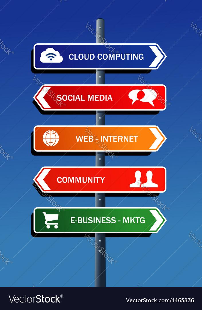 Social media plan road post vector