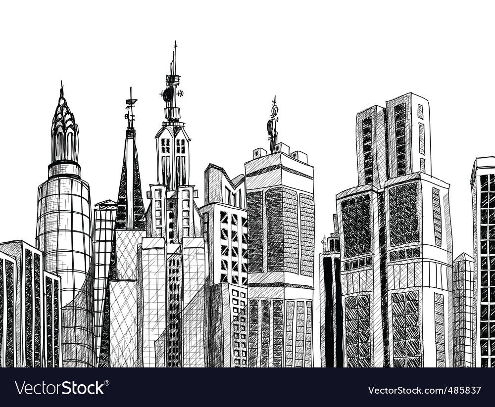 Urban architecture vector