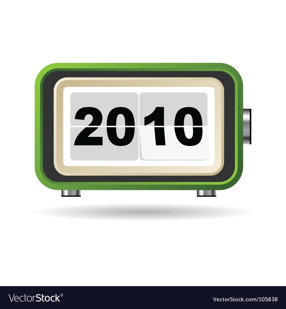 Happy new year 2010 vector