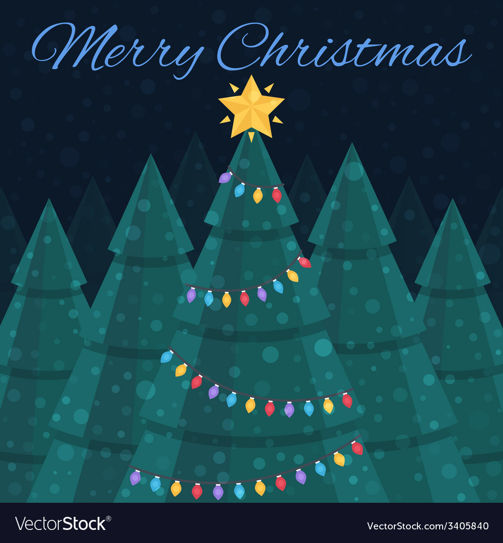 Merry christmas  christmas card nightlife vector