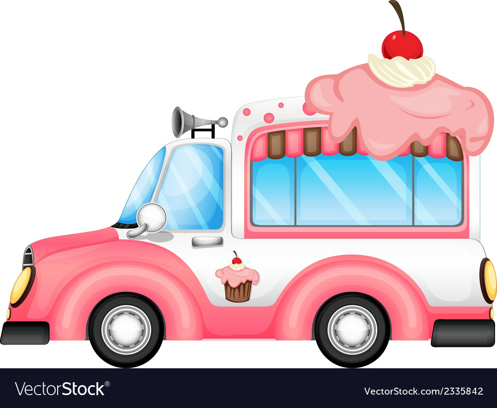 A vehicle selling desserts vector