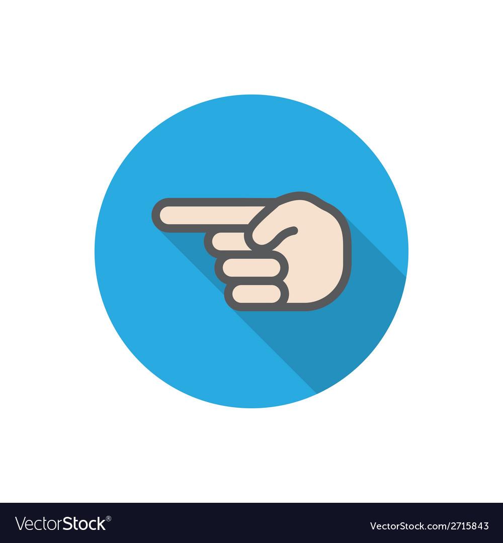 Hand pointer vector