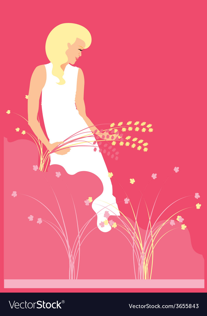 Woman-in-nature-2 vector