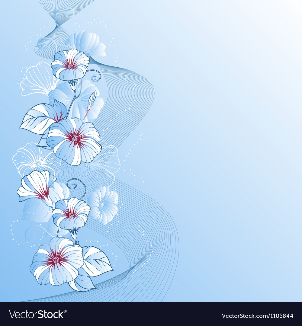 Stylish abstract floral background design of vector