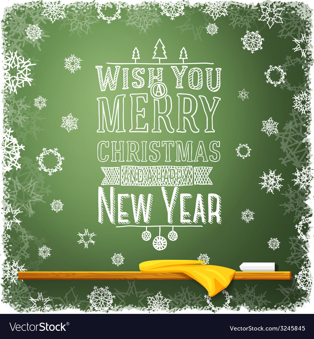 Wish you merry christmas and a happy new year vector