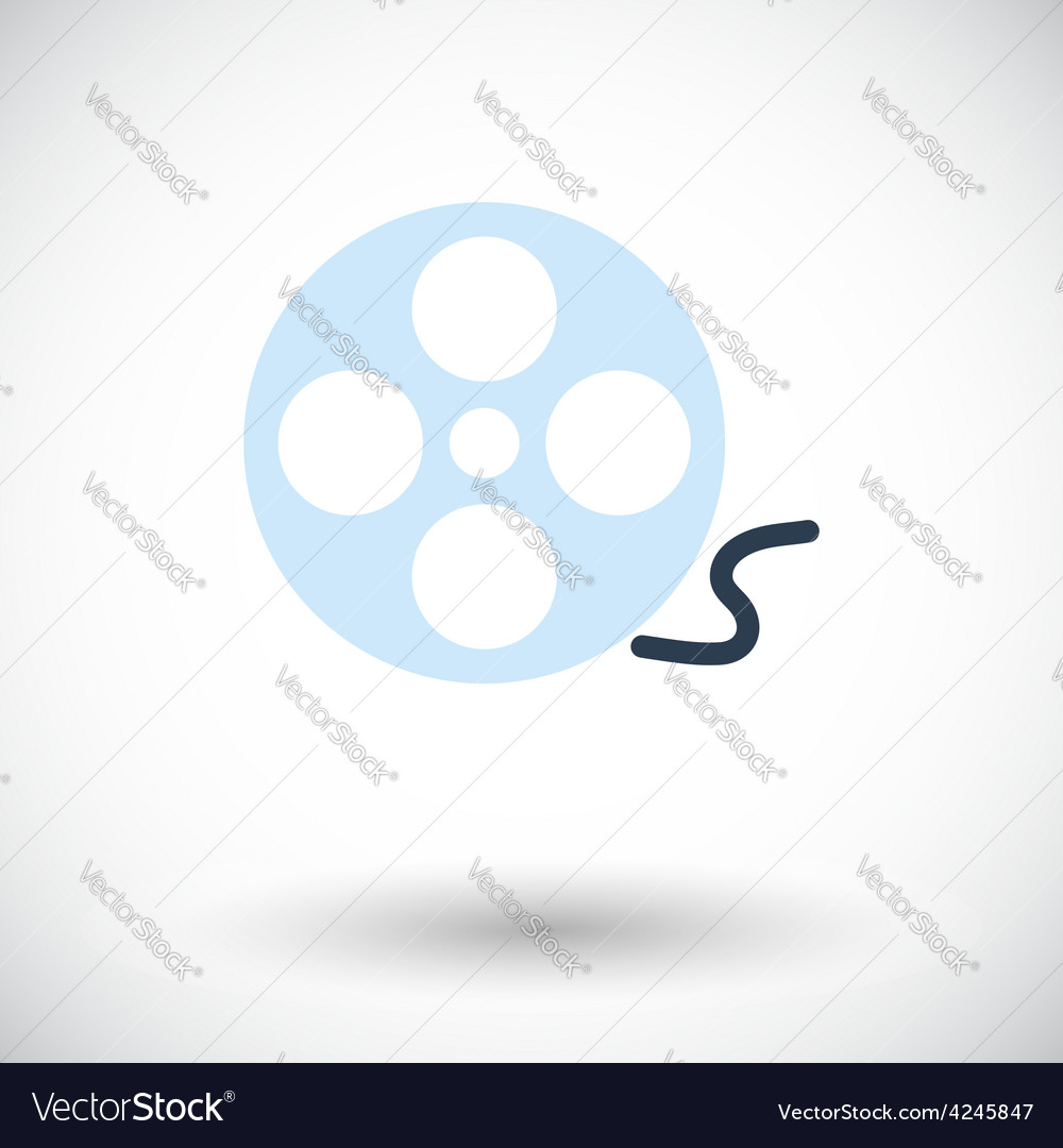 Icon reel of film vector