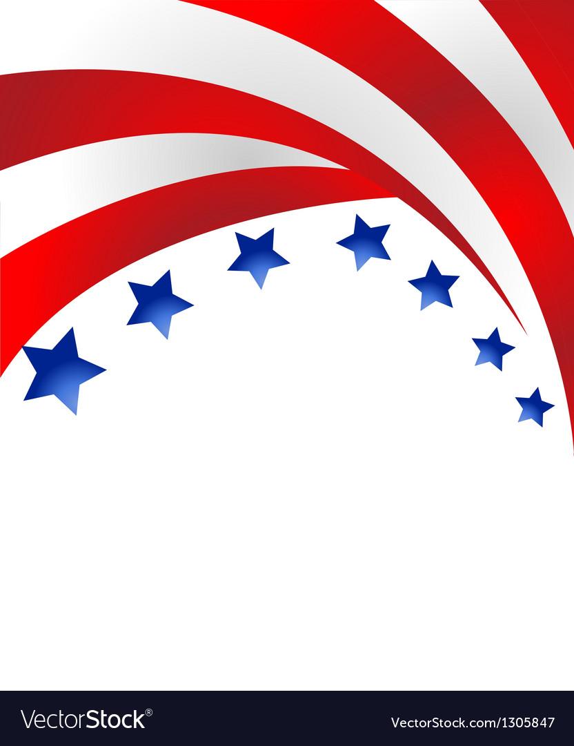 Us flag background vector