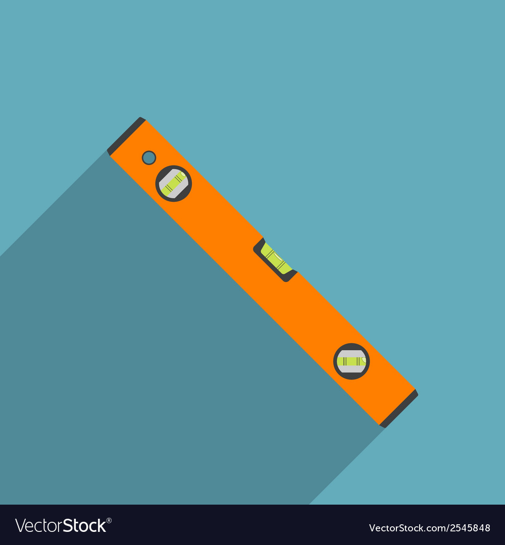 Flat level tool vector