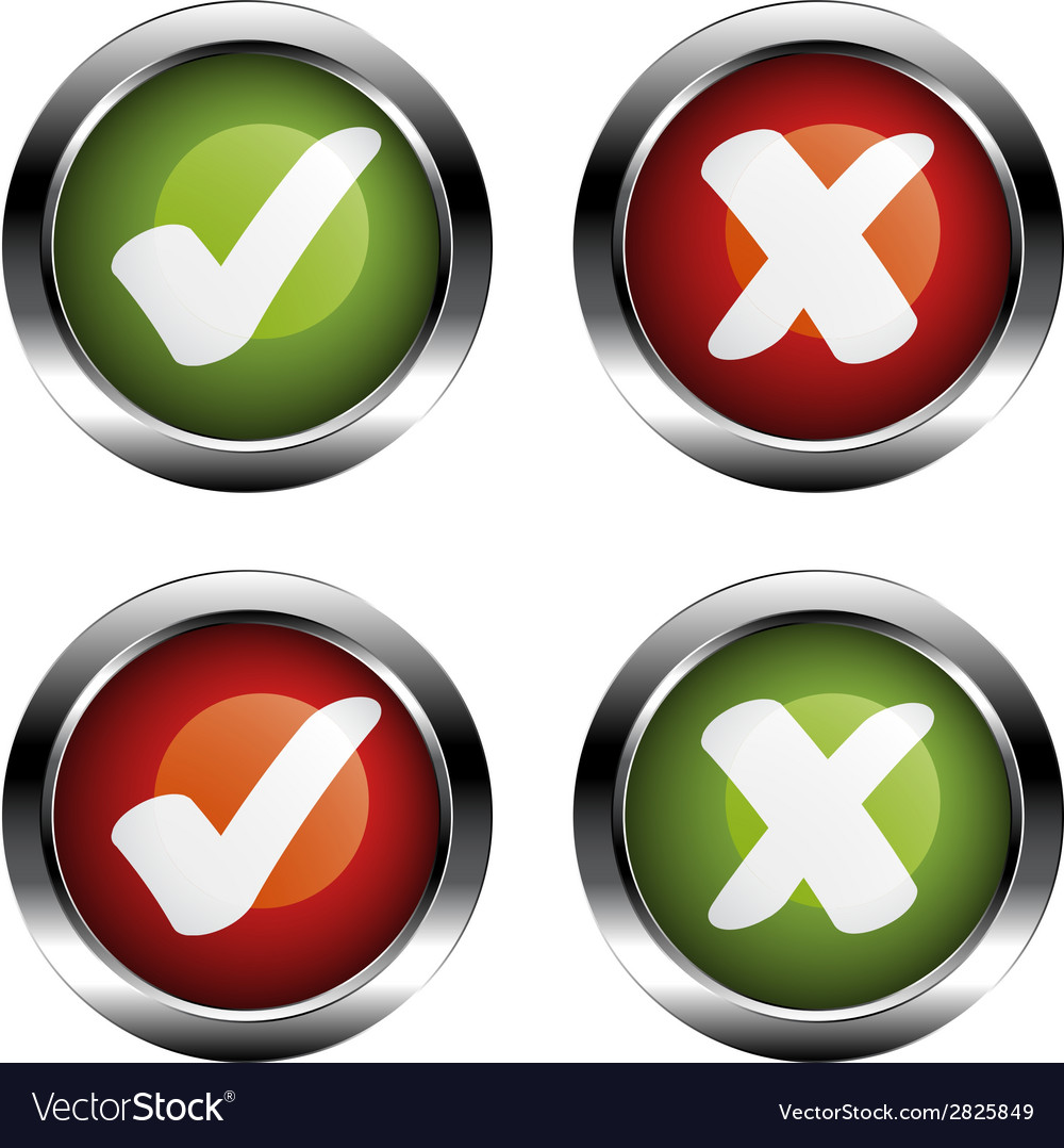 White checkmarks labels vector