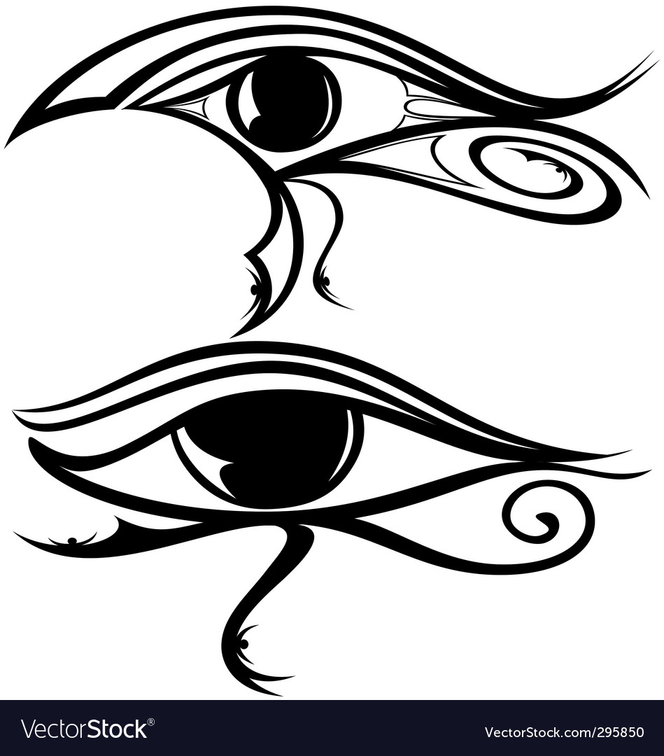 Egyptian eye ra vector