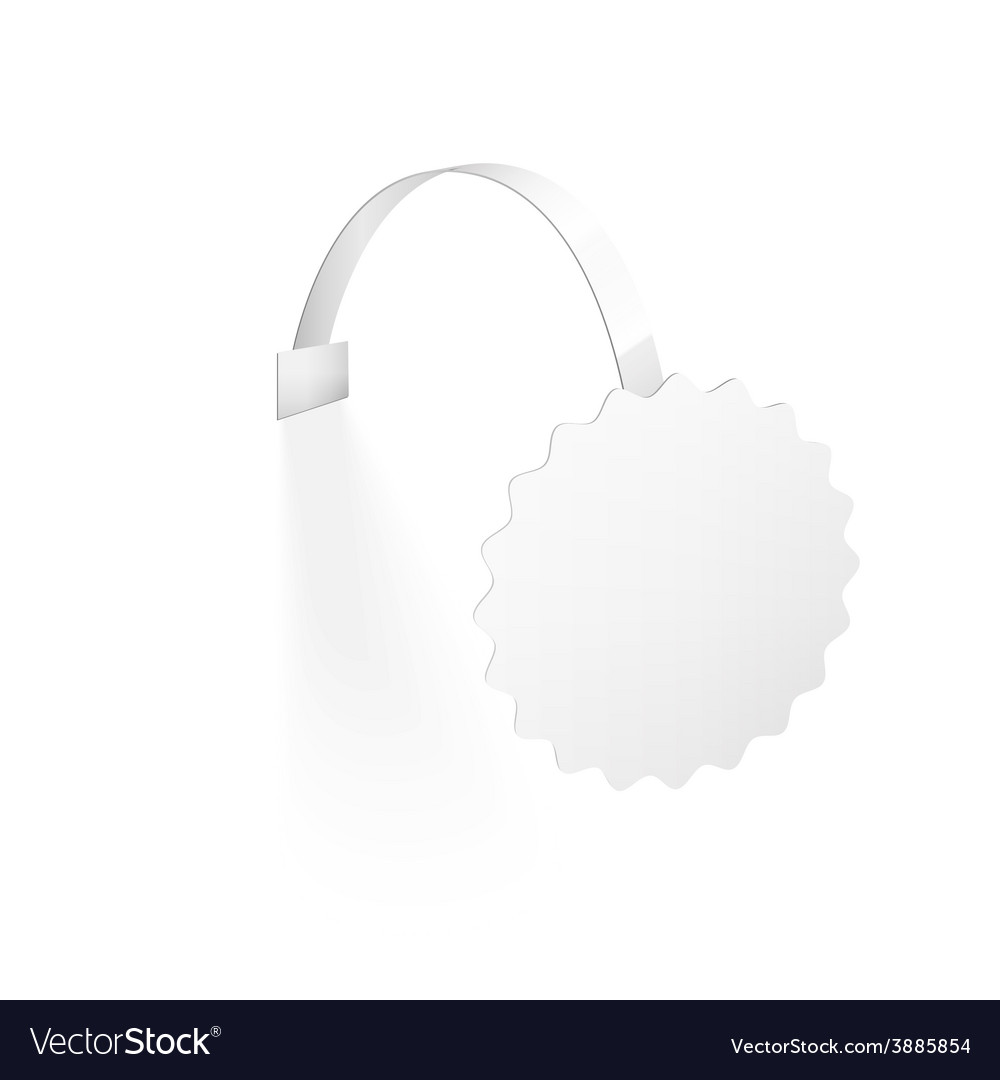 Blank wobbler with transparent strip isolated on a vector