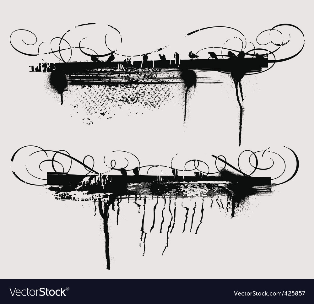 Grunge rules vector