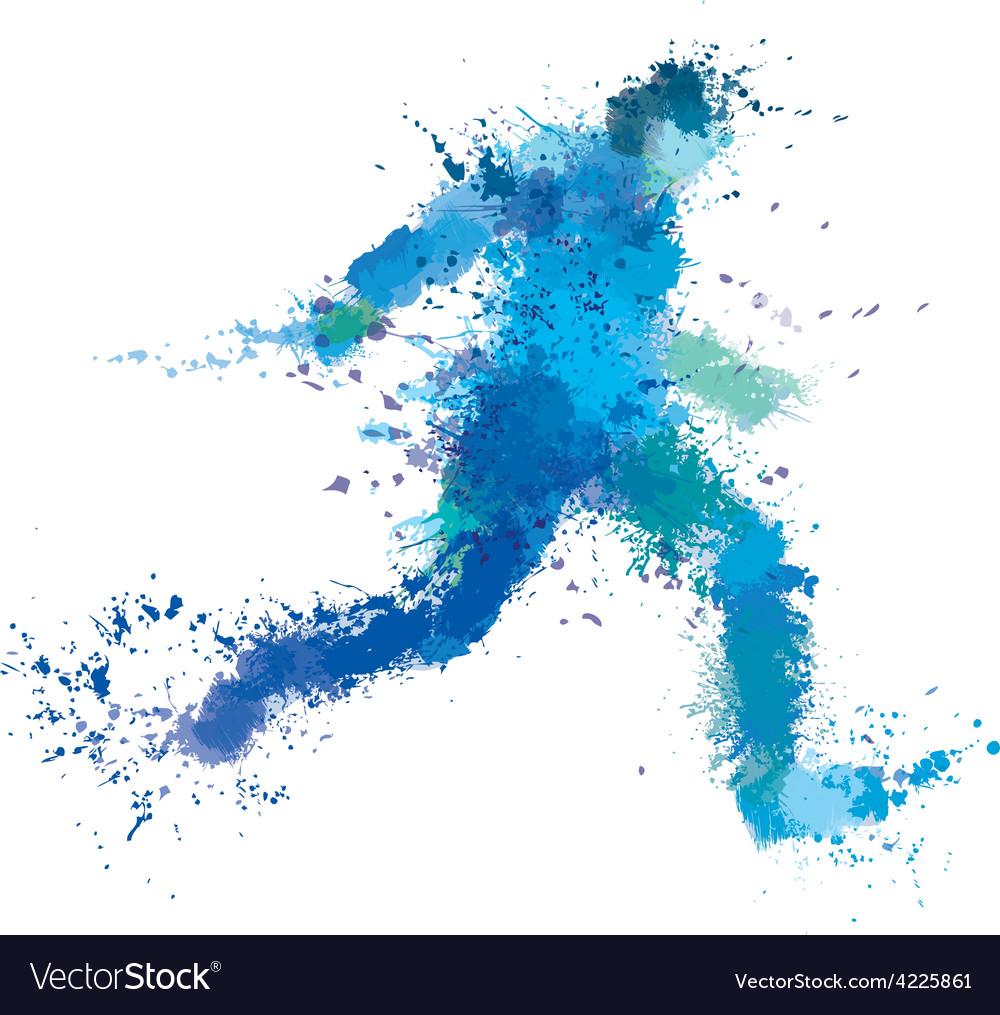 Man run splash vector