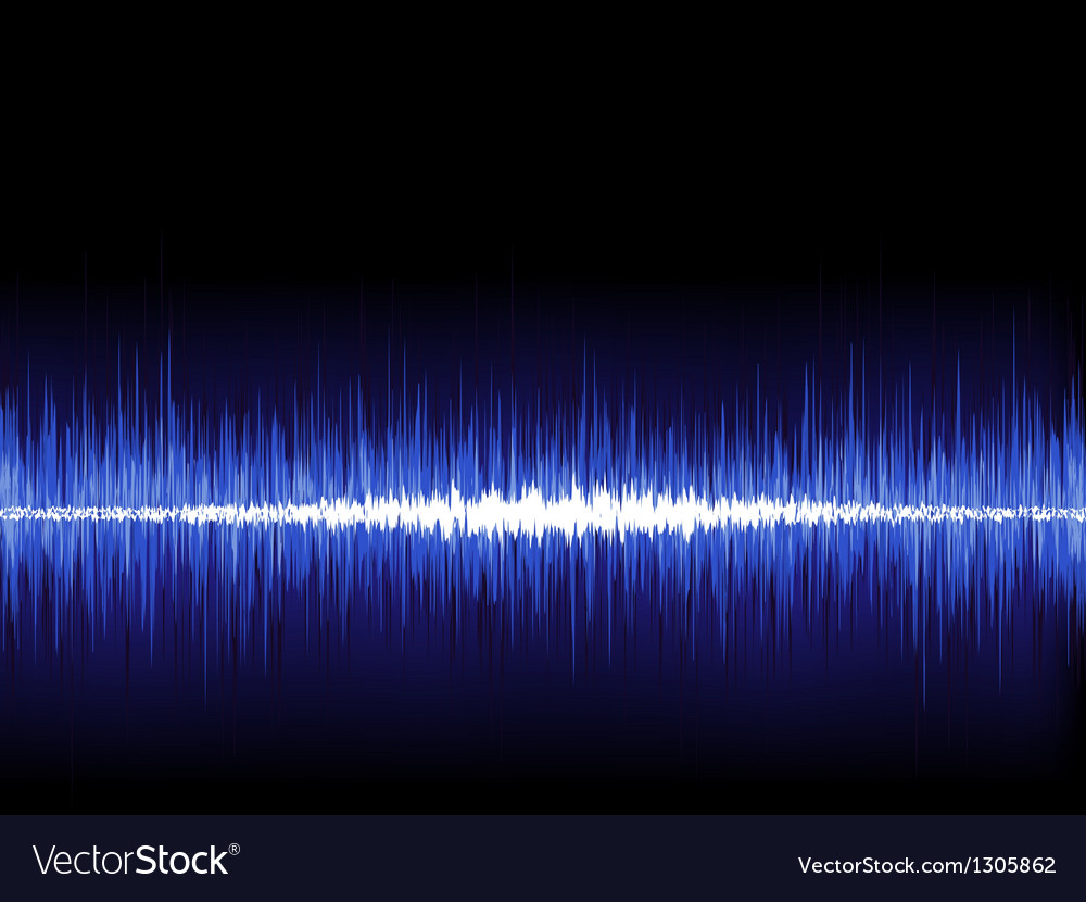Sound waves oscillating on black eps 8 vector