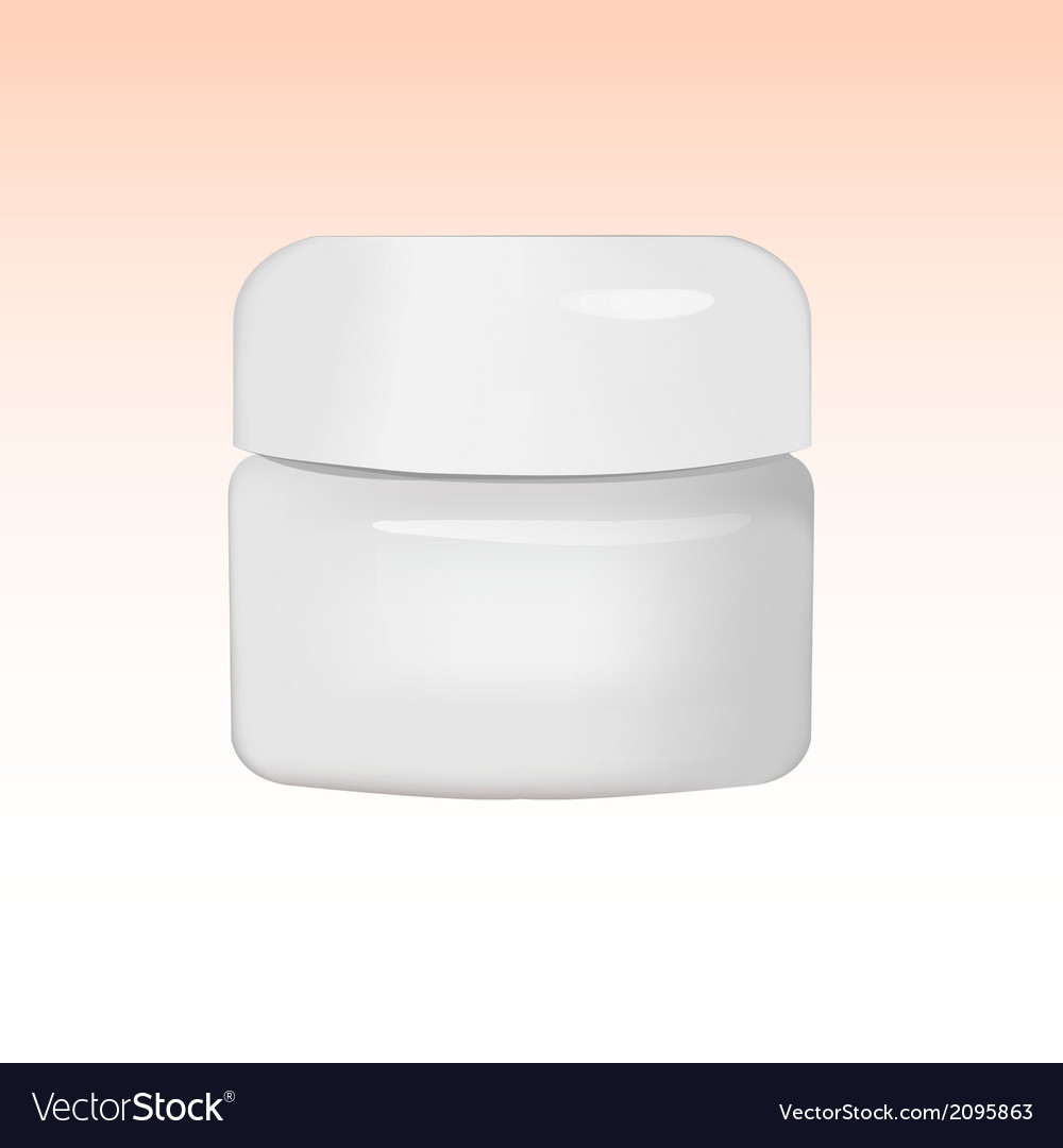 Cosmetic product packaging vector