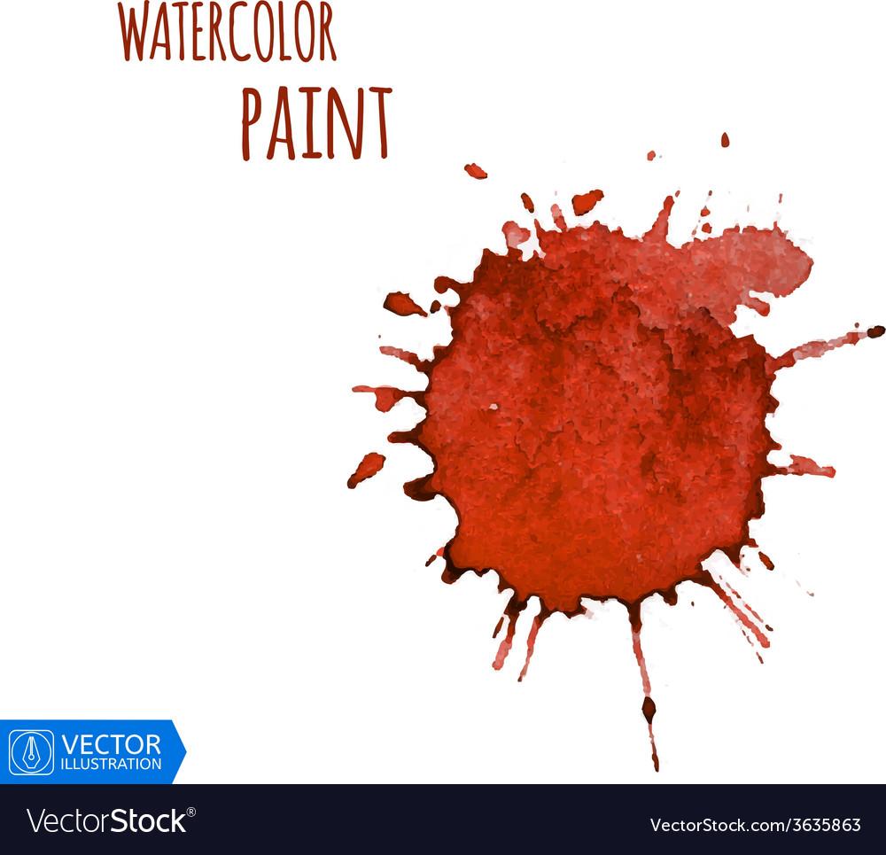 Watercolor paint splat vector