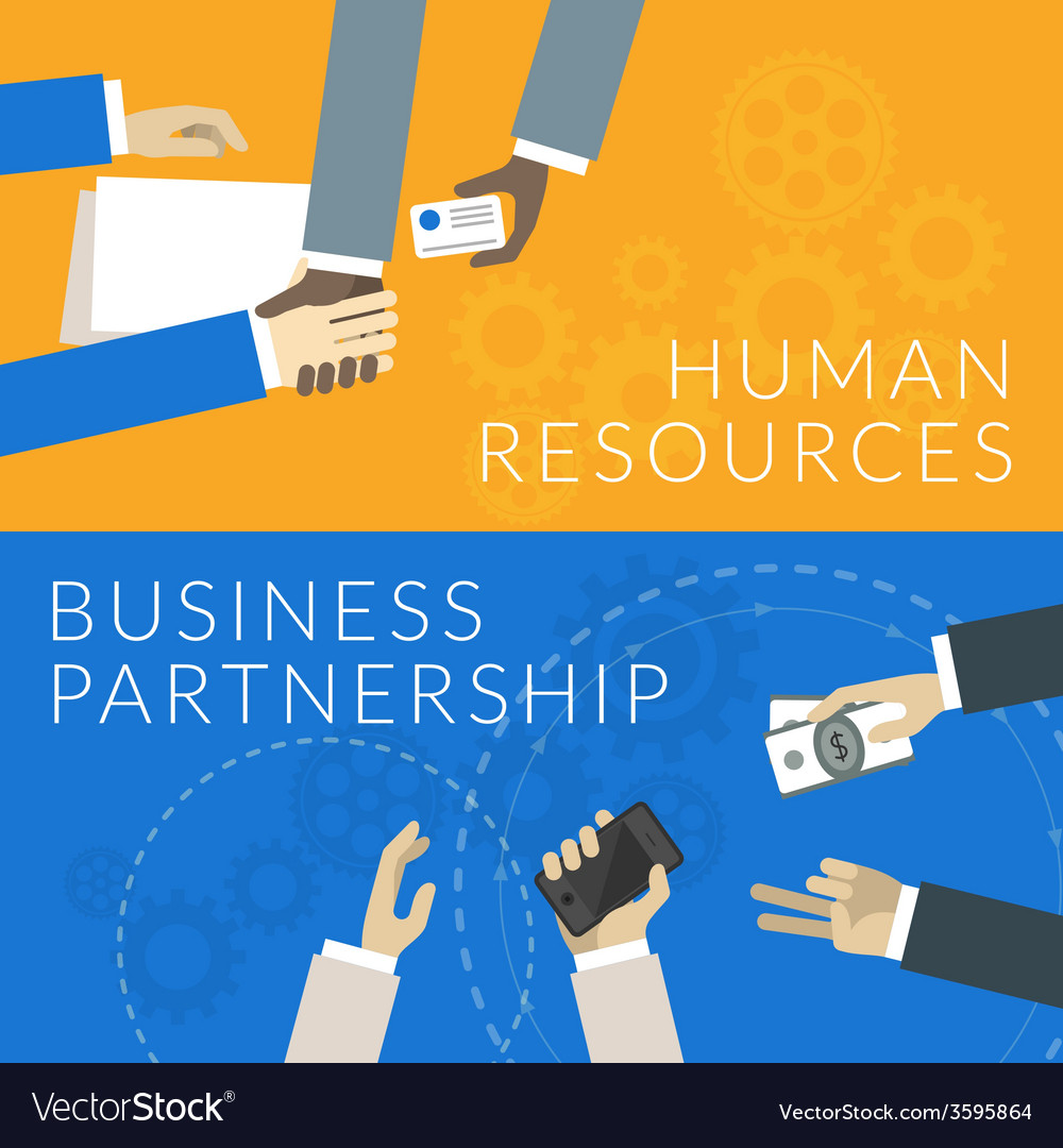 Flat design concept for human resources and vector