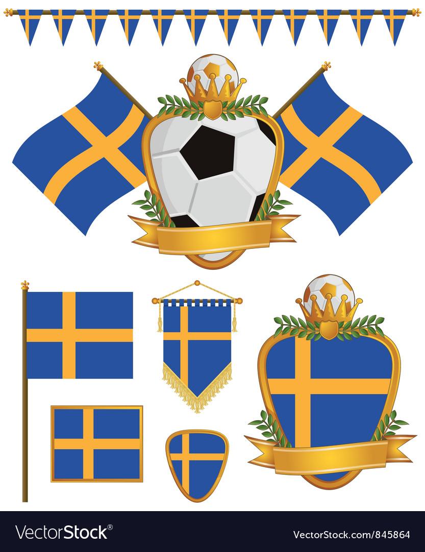 Sweden flags vector